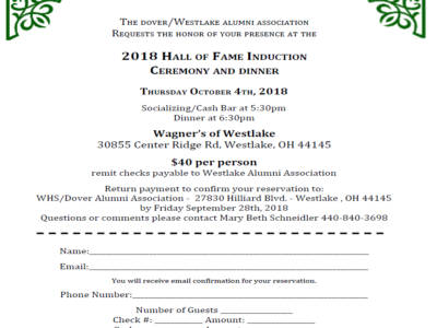 2018 Hall of Fame Induction Ceremony Dinner
