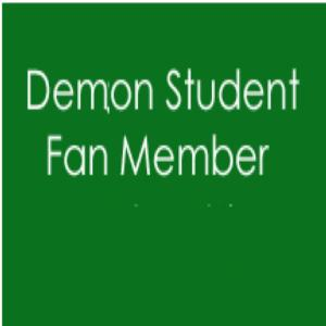 2016/17 WDAB Membership - Demon STUDENT Fan Member